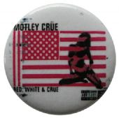 Motley Crue - 'Red White & Crue' Button Badge